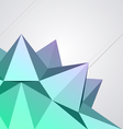 abstract modern shape vector image vector image