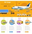Air cargo infographics vector image vector image
