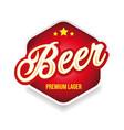 beer label sign lettering vintage vector image