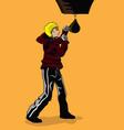 boxer training vector image