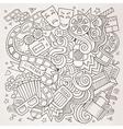 Cartoon hand-drawn Cinema Doodle Sketchy vector image vector image