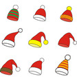 christmas winter cap vector image
