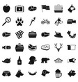 clever dog icons set simple style vector image