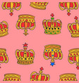 collection stock of red crown pattern vector image vector image