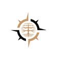 compass logo vector image vector image