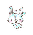 cute little bunny and rabbit cartoon doodle vector image