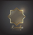 decorative ramadan kareem background vector image vector image