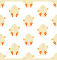 easter chicken seamless pattern vector image vector image