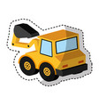 excavator vehicle isometric icon vector image vector image
