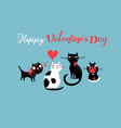 festive valentines with cats in love vector image vector image
