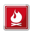 fire flame sign isolated icon vector image vector image