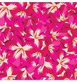 Floral pattern with hibiscus hand-drawing vector image vector image