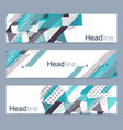geometric set of modern banners abstract vector image vector image