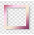 gold rose foil smudge frame pink glossy grunge vector image
