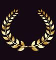 golden laurel wreath symbol of victory triumph vector image