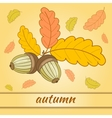 Greeting Card Autumn-01 vector image vector image