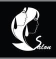 hair salon advertisement - business logo vector image vector image