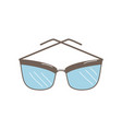 hand drawn doodle sunglasses icon vector image