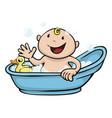 happy cute babath time vector image