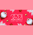 happy new 2021 year design template with santa vector image