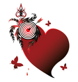 heart and target vector image vector image