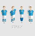 Italy Soccer Team Sportswear Template vector image vector image