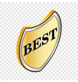 label best isometric icon vector image vector image