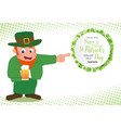 leprechaun hand point to special offer sale text vector image vector image