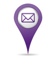 location mail icon vector image vector image