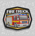 logo for fire truck vector image