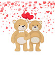 male female plush toys celebrating valentines day vector image vector image
