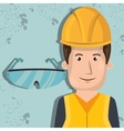 man worker protection tools icon vector image