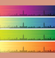 manchester multiple color gradient skyline banner vector image vector image