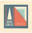 minimal geometric template label vector image vector image