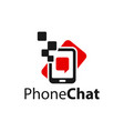mobile phone message technology logo vector image vector image