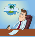 office worker dreaming vector image vector image