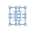 organization structure line icon concept vector image vector image