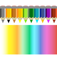 Pencil and coloured rainbow vector image