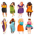 plump women set vector image