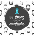 prostate cancer awareness month poster vector image