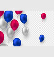 realistic 3d glossy balloons vector image vector image