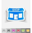 realistic design element shop vector image