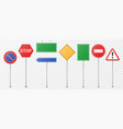 realistic detailed road sings set isolated on vector image