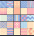 seamless pattern in style of patchwork vector image
