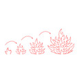 sketched camfire to wildfire with fire flame vector image vector image