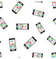 smartphone seamless pattern background icon vector image