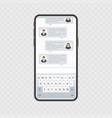 smartphone with keyboard vector image vector image