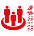 social group icon with valentine bonus vector image vector image
