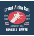 Sport Typography Great Aloha Run vector image vector image