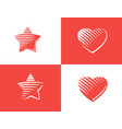 star and heart icon vector image vector image